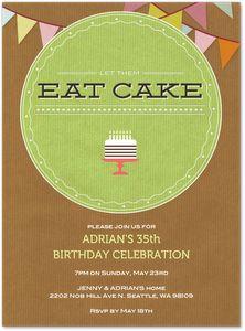 Let them eat cake! Digital birthday #invitations from Evite Postmark - www.postmark.com/birthday-party-invitations