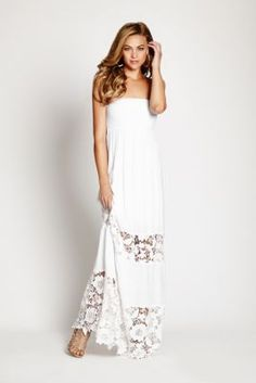 Can't wait for this one to arrive it Embroidered-Lace Maxi Dress   GUESS.com