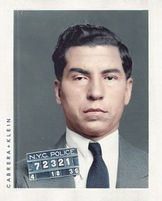 Lucky Luciano in 1936.