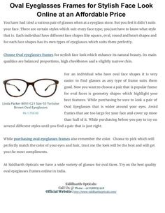 4d7c3d483922 Oval eyeglasses frames for stylish face look online at an affordable price