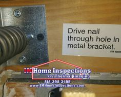 Not following directions keeps Home Inspectors employed. This attic ladder bracket requires a nail but was installed with a drywall screw. #RealEstate #homeinspection #homeinspector #sanfernandovalleyrealestate #santaclaritarealestate #conejovalleyrealestate
