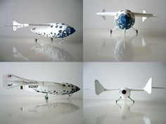 US Space Ship One Aircraft DIY Handcraft Paper Model Kit #Unbranded