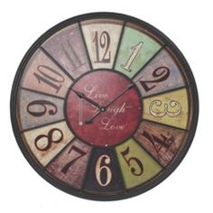 Live Laugh Love Wall Clock Tuscan Decor Chic Primitive French Country Shabby New | eBay