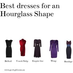 """""""Best dresses for an Hourglass Shape"""" by go-2-girl on Polyvore"""