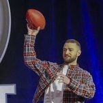 New York Times - Timberlake will be the halftime entertainment on Sunday, but he suggested at a news conference Thursday that he wouldn't let his 2-year-old son play the sport.