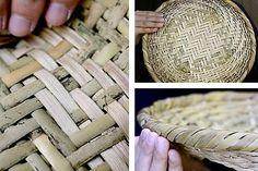 ■篠竹底編み足付ざる■サイズ:約直径27×H6センチ■素材:篠竹(スズ竹)■原産国:日本製・国産