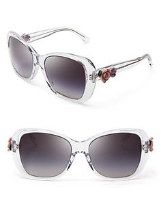 fe9dcdb893 Dolce Gabbana Women s Oversized Transparent Floral Sunglasses Jewelry    Accessories - Sunglasses - All Sunglasses - Bloomingdale s