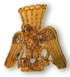 Gold Pendant  --  In the form of a raptor  --  Scythian  --  Hermitage Museum  --  St. Petersburg, Russia