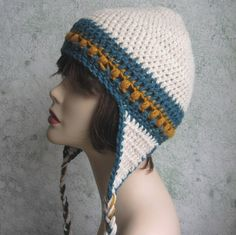 pinterest/easy crochet beanies | Crochet Ear Flap Hat Pattern PDF Easy | Crochet | Pinterest