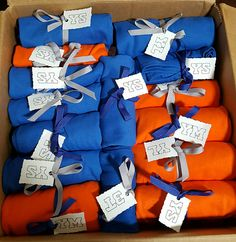 Crafting it's orange & blue