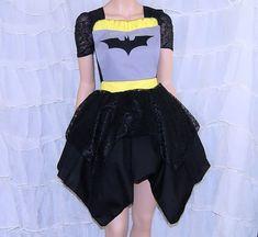 Batman Black Lace Pinafore Apron Costume Skirt Adult Small - Medium- MTCoffinz - Ready to ship on Etsy, $95.00