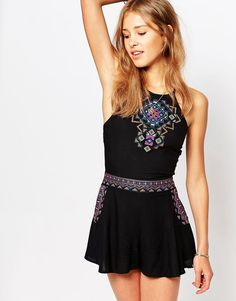 Image 1 - Hollister Embroidered Co-Ord Top With Cross Back Detail