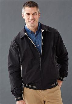 Men's Cotton Microfiber Fully Reversible Jacket gray tan
