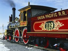 Old Fashioned Steam Train at Golden Spike National Historic Site, Great Basin, Utah $30