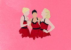 More Unholy Trinity. #glee #HeatherMorris #NayaRivera #DiannaAgron (not my drawing)