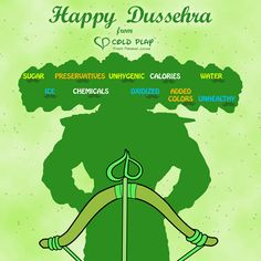 Celebrate the victory of the forces of good over Evil. Make the right choice, release the arrow. Order Now. Happy Dussehra.  #Dussehra #HappyDussehra #ColdplayJuices #ColdPlay #Healthy #LetsColdPlay #Fresh