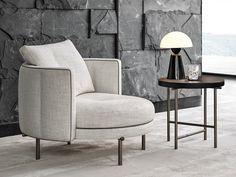 Fabric Armchairs, Chair Fabric, Swivel Armchair, Sofa Chair, Modern Armchair, Chair Design, Furniture Design, Poltrona Design, Single Sofa