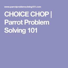 CHOICE CHOP | Parrot Problem Solving 101