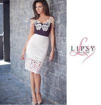 ☆LIPSY☆LOVES MICHELLE KEEGAN☆LACE BARDOT TRIM BODY
