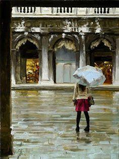 Girl in the Rain | George Bodine