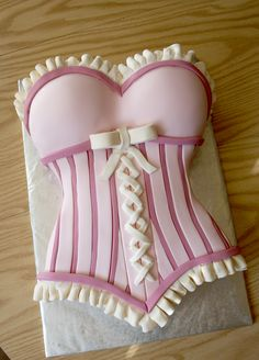 Bridal Shower / Bachelorette Party Corset Cake - SO cute! #pink #lingerie