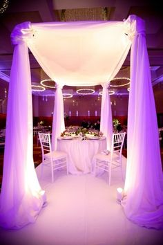 We could also put your dad's archway at the reception under our portion of the family style table