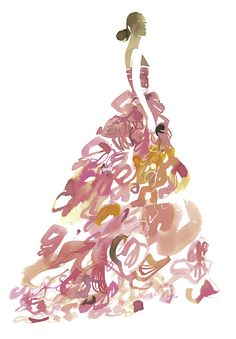 A Rose is a Rose by Bil Donovan is based on a vintage gown by Christian Dior Haute Couture