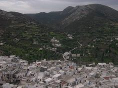 Skyros: The view down from the top of town.