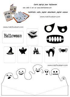 carte halloween pop'up