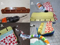 Repurpose a Spoon or Rod Rack into a Cute Sunglasses Holder ~ Madigan Made { simple DIY ideas }
