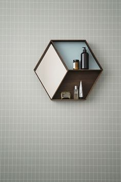 ferm Living – Wall Wonder spejl, røget eg Grid Wallpaper, Wallpaper Patterns, Wallpaper Designs, Spiegel Design, Etagere Design, Deco Design, Bathroom Inspiration, Hair Inspiration, Home Accessories