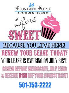 I made this to send out with Apartment Renewal Notices for our Residents :)