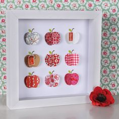 Red apple shadow box...$116?! so DIY easy!!