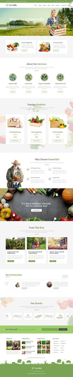 Farmvilla is a clean and modern #WordPress theme for responsive #organic #food website with 6 amazing homepage layouts download now➯ https://themeforest.net/item/farmvilla-organic-food-wordpress-theme/16226773?ref=Datasata