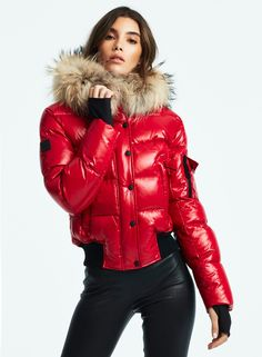 Here are the 8 Best Women's Ski Jackets - Outdoor Click Tight Leather Pants, Leather Jacket, Moncler, New York Girls, Puffy Jacket, Rain Wear, Jacket Style, Mantel, Winter Fashion