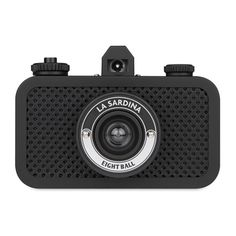 The La Sardina camera comes in a textured all-black body and boasts a wide-angle lens, simple focus settings and multiple exposure capability. Toy Camera, 35mm Camera, Camera Shutter, Shutter Speed, Thing 1, Multiple Exposure, Shoot Film, Lifestyle Store, Wide Angle Lens