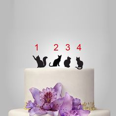 CAT Silhouette Cake Topper, wedding cake topper, custom cats wedding cake topper, pets cake topper by walldecal76 on Etsy https://www.etsy.com/listing/206740153/cat-silhouette-cake-topper-wedding-cake