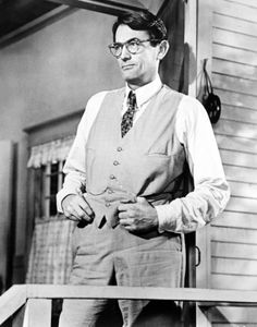 Atticus Finch played by Gregory Peck
