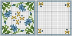 Cross-stitch Biscornu ... no color chart available, just use pattern chart as your color guide.. or choose your own colors...  Картинка