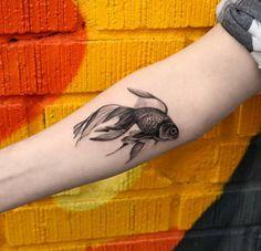 Blackwork goldfish by Turan