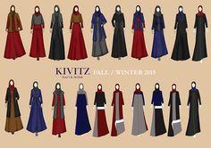 Kivitz Queen Fashion, Fashion Art, Fashion Outfits, Islamic Fashion, Muslim Fashion, Muslimah Clothing, Modest Clothing, Fashion Illustration Dresses, Fashion Illustrations