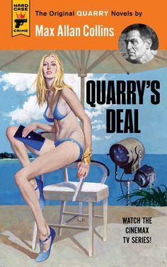 """Cover Art by Robert McGinnis - """"Quarry's Deal"""" by Max Allan Collins"""