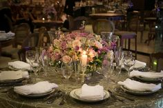 Detalhes da mesa - Casamento moderno
