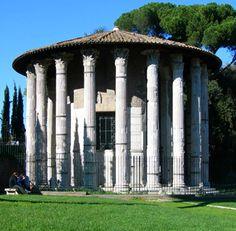 Wk The round temple in the Forum Boarium Roman Republic, Visual Aids, Roman Art, Gazebo, Outdoor Structures, Architecture, Building, Temple, Houses