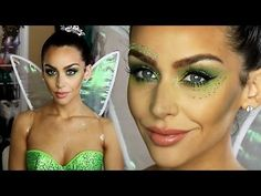 Tinkerbell 'Fairy' Halloween Makeup Tutorial! - YouTube