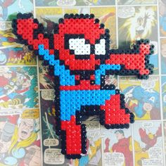 Spiderman hama beads by kaaayliexo