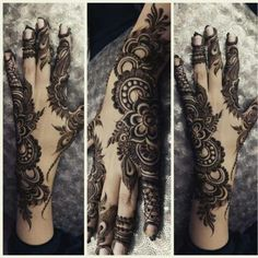 This Mehndi Design Arabic for girls is the perfect example of how henna can be used as an accessory too. Must try Henna Design Idea. Khafif Mehndi Design, Stylish Mehndi Designs, Mehndi Style, Mehndi Design Pictures, Mehndi Art Designs, Beautiful Mehndi Design, Bridal Mehndi Designs, Henna Tattoo Designs, Bridal Henna