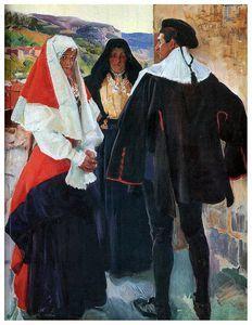 Tipos de Salamanca, 1912 by Joaquin Sorolla Y Bastida (1863-1923, Spain)