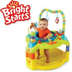 Bright Starts Entertain and Grow Saucer Innovative Ideal Fit Seat™ allows entertainer to fit baby's growth stages!