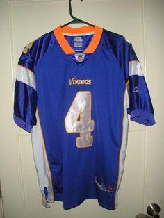 35672bb9 Minnesota Vikings Brett Favre #4 Reebok Authentic Sewn Jersey Size: 48  Minnesota Vikings,